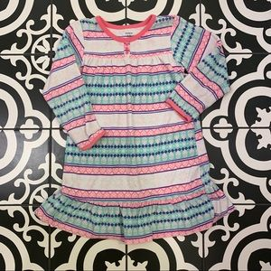 Carter's Fleece Fair Isle Stripe Nightgown